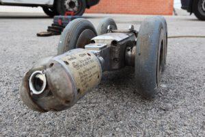 inspección de tuberías con cámara robotizada